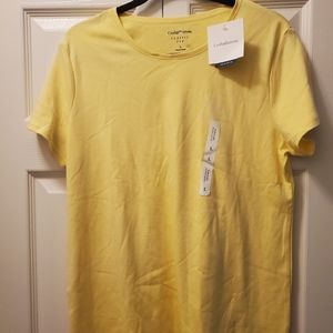 Croft & Barrow yellow short sleeve crewneck size L